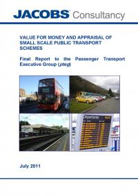 Value for money and appraisal of small public transport schemes