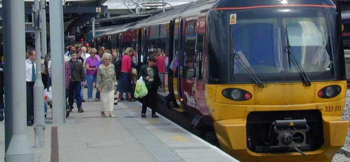 Class 333 train at Leeds station