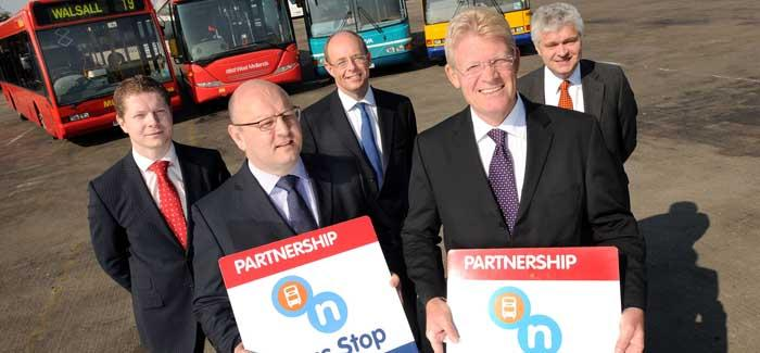 A bus partnership event
