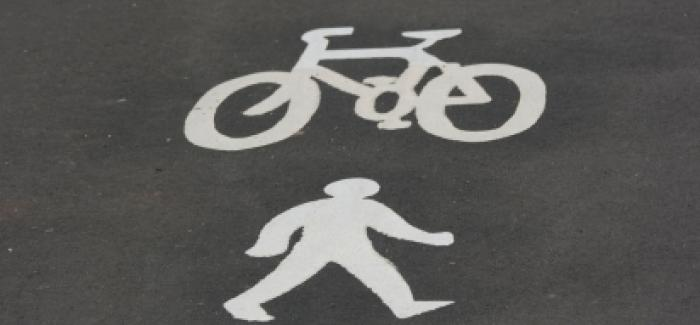 Cycling and walking symbols
