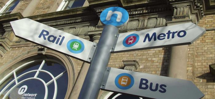 Multimodal transport signage