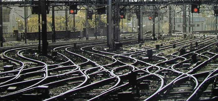 Rail tracks and signals, c. Network Rail
