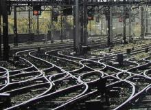 Rail tracks and signals c Network Rail