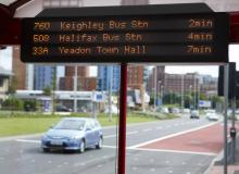 YourNextBus real time display West Yorkshire