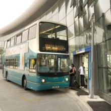 Bus outside Liverpool South Parkway interchange