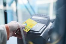 M Card in use at Leeds station