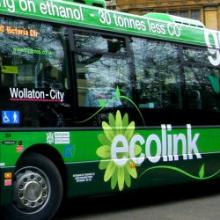 ecolink bus close-up Nottingham