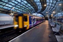 Northern rail train in station