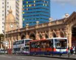 Leicester buses and buildings